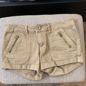 Olive green shorts